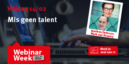 Mis geen talent webinar week